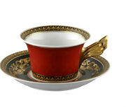 Versace By Rosenthal, Germany Medusa Red Tea Cup And Saucer, Superb
