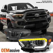 Fits 2016-2021 Tacoma Trd / Limited Sequential Smoked Led Projector Headlights