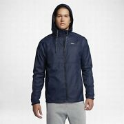 Hurley Menand039s Protect Solid Windbreaker Jacket - Obsidian