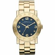 Womens Marc Jacobs Mbm3166 Amy Gold Dinky Watch Rrp Andpound299
