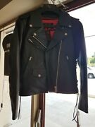 Z1r Womenand039s Black Leather 9mm Jacket - Small P/n 2813-0617