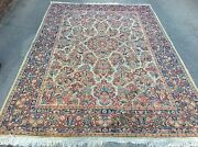 Authentic Antique Sarouk Oriental Rug Hand Knotted Floral 9and039 X 6and039 3