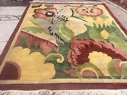 Vintage Nepal Modern Abstract Design Oriental Rug Hand Knotted Wool 8andrsquo X 10andrsquo