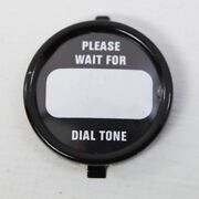 Western Electric Telephone Dial Number Card Center Holder Black Wait For Tone