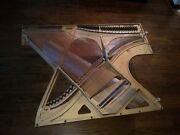 Custom Hand Crafted Coffee Table Made From Piano Parts. Music Tablemaple Base