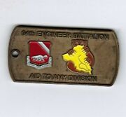 94th Engineer Battalion Challenge Coin Wolverines Dog Tag Oif I/iii 07-09