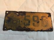 1912 Michigan Motorcycle License Plate 596