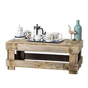 Rustic Barnwood Coffee Table Farmhouse Natural Reclaimed Old Wood Assembled