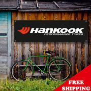 Hankook Performance Tyres Banner Vinyl Or Canvas Advertising Garage Sign Poster