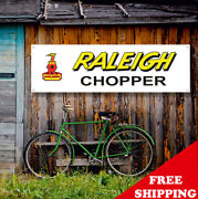 Raleigh Chopper Banner Vinyl Or Canvas Advertising Garage Sing Poster Many Sizes