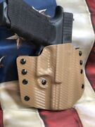 Pancake Owb Carbon Fiber Kydex Holster For Sig Sauer P320 Series By 1441 Gear