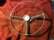 1956 Cadillac Steering Wheel Center Horn Ring With Internal Parts And Set Screws