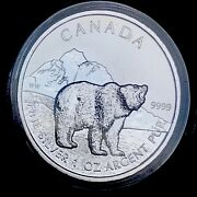 2011 Canada Grizzly Maple Canadian Wildlife Series 1oz Silver .9999 Bu Coin