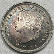 1894 Canada 5 Cent Xf Details Coin Ag332