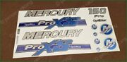 Mercury 150 Hp Optimax Proxs Outboadrs Motor Blue-silver Laminated Decals Boat