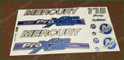 Mercury 175 Hp Optimax Proxs Outboadrs Motor Blue-silver Laminated Decals Boat