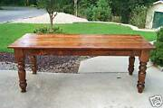 Antique Heart Pine Harvest/dining Table Reclaimed Farmhouse Rustic