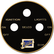 Buick Delco Ignition And Lighting Switch Plate Etched Brass 1920s - 1930s