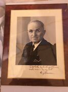 Harry Truman 1946 Signed 9x10 Photo Along With A Letter From Secretary Of State