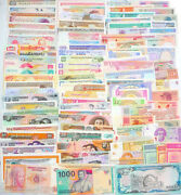 100 Different Paper Money Collection Worldwide Unc New Banknotes All Genuine