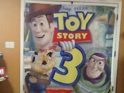 3 Huge Wall-sized Disney Pixar Toy Story 3 Movie Display Banner Flags 6and039x 6and039 Htf