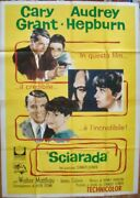 Charade Italian 4f Movie Poster B 55x79 Audrey Hepburn Cary Grant Stanley Donen