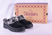 Womenand039s Skechers Shindigs- Fortress Faux Fur Lined Mules Black