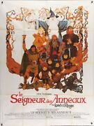Lord Of The Rings French Grande Movie Poster 47x63 Ralph Bakshi Jrr Tolkien 1978