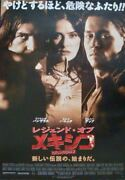 Once Upon A Time In Mexico Japanese B2 Movie Poster Johnny Depp Salma Hayek 2003