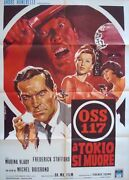 Oss 117 Atout Coeur A Mission To Tokyo Italian 2f Movie Poster 39x55 Vlady Nm
