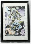Original Comic Back Cover Art Painting Gulliver Of Mars By Newton Burcham Signed
