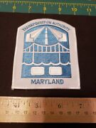 Maryland Transportation Authority Police Patch Md Old Rare Blue White Badge Law