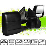 Powered Heated Amber Led Signal Side View Towing Mirrors For Ford F150 04-14