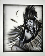 Steven Tyler Signed 22x28 Canvas Custom Native American Painting Exact Proof