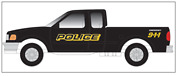 Atlas N Scale 60 000 109 1997 Ford F-150 Pick-up Police 9-1-1 Two Per Pack New