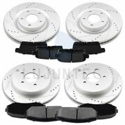 Front Rear Ceramic Pads And Rotors Brake For 2007-2010 Ford Edge Lincoln Mkx