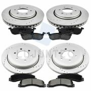 Front Rear Brake Discs Rotors And Ceramic Pads For Ford Expedition 2010-16 Drill