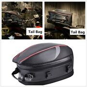 Motorcycle Pu Leather And Carbon Fiber Pvc Fabric Back Seat Tail Bags Storage Box