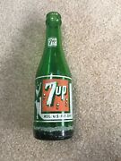 Old Original 7oz 1940s 7up Bottles With Girl With Swimsuit And 7 Bubbles