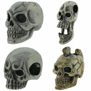 Paracord/leather Beads In .925 Sterling Silver By Gd Skulls 10 Designs
