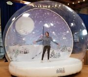 Giant Snow Globe. Holiday Attraction. Step Into The Globe And Have Fun