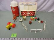 Fisher Price Little People Play Family Farm Barn 915 Ay Tractor Cow Horse Pig