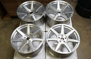 20 Project 6gr7 Brushed Silver Wheels Ford Mustang S550 S197 Gt 5.0 Ecoboost