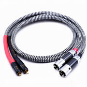 Hi-end 2 Rca Male To 2 Xlr 3 Pin Male Plug Audiophile Rca To Xlr Audio Cable