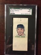 1960 Topps Tattoo Mickey Mantle Sgc 10 Psa Or Bgs 1
