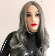 Realistic Beautiful Female Latex Medical Silicone Rubber Mask With Full Make Up