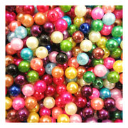 3mm / 4mm / 5mm / 6mm / 8mm Acrylic Imitation Round Pearl Beads 19 Colours Wsr