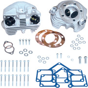 S And S Cycle Super Stock Cylinder Heads Rubber Band Intake - Natural Finish