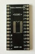 Lot Of 20 Qsop-28 Breakout Board Adapter For Prototyping