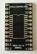 Lot Of 20 Soic-24 Wide 300mil Breakout Board Adapter For Prototyping